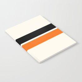 2 Stripes Black Orange Notebook