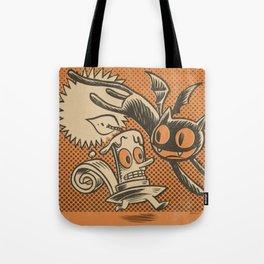 Bat Cat and Candle Tote Bag