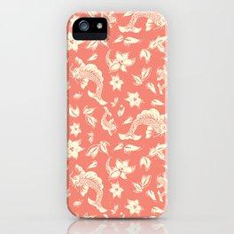 Coral Carps Pattern iPhone Case