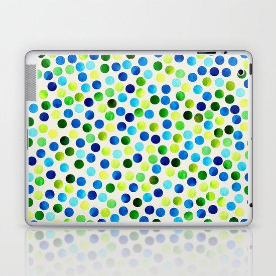 Watercolor Dots_Aqua by Jacqueline and Garima Laptop & iPad Skin
