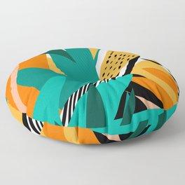 Jungle Abstract Floor Pillow