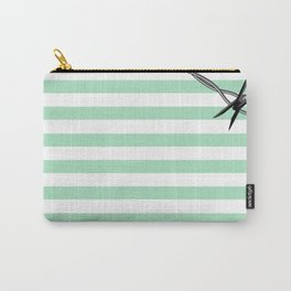 Pastel Goth - Mint Stripes and Barbed Whire Carry-All Pouch