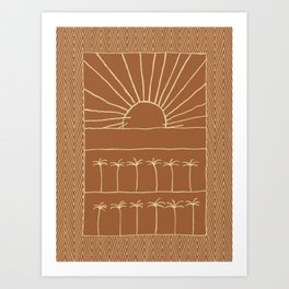 Palm-Tree row Art Print