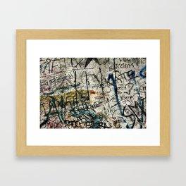 Berlin Wall Graffiti Framed Art Print