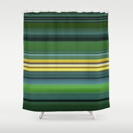 The Yellow Line Shower Curtain