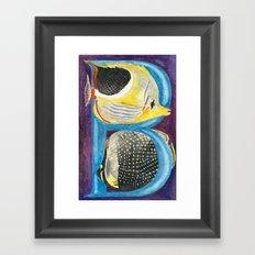 B for Butterfly Fish Framed Art Print