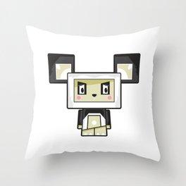 Cute Cartoon Blockimals Panda Bear Throw Pillow