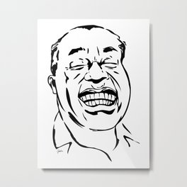 Face Louis Armstrong Metal Print