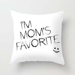 Mom's Favorite Throw Pillow