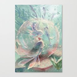 LOVE TO READ | Inside The Bubble Canvas Print