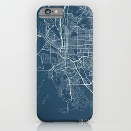 Colorado Springs Blueprint Street Map, Colorado Springs Colour Map Prints iPhone Case