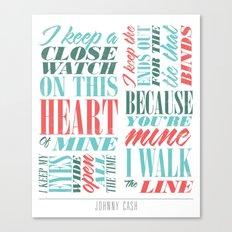Walk the Line Canvas Print