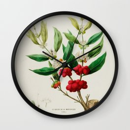 """Coffee plant by Étienne Denisse from """"Flore d'Amérique"""" (1843)  Wall Clock"""