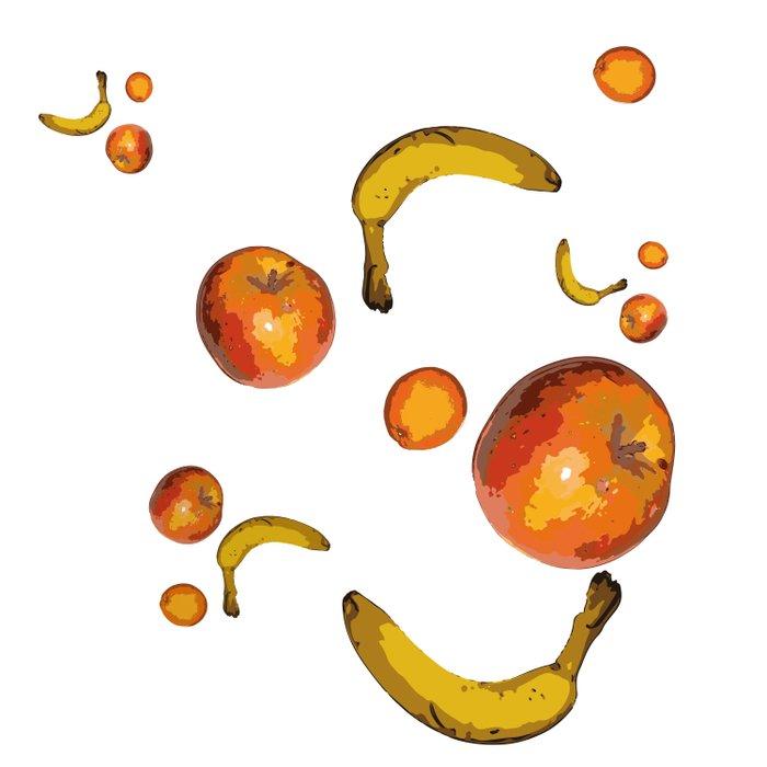 Vegan Life Banana Apple Orange Fruits Healthy Comforters
