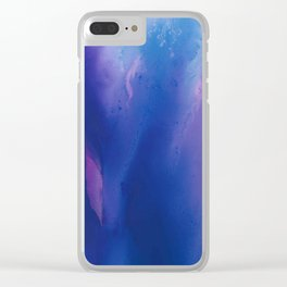 Deep Blue Nebula Clear iPhone Case