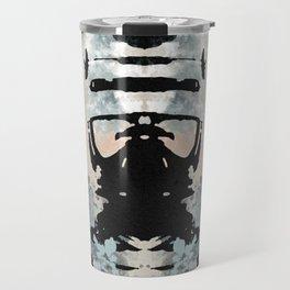 Rorschach Robocop   Textured Travel Mug