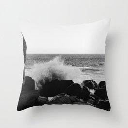 Monochrome Mexico Throw Pillow