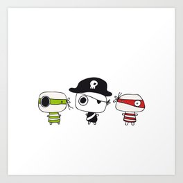 Three Pirates Art Print