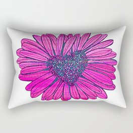 Heart-shaped Daisy Rectangular Pillow