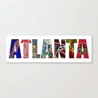 atlanta Canvas Prints featuring ATLANTA by Mental Activity