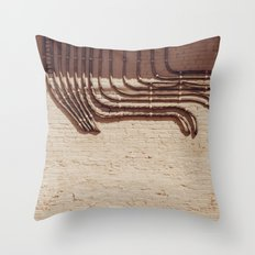 Electric Abstract Throw Pillow