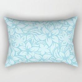 Moloaa Bay Hawaiian Hibiscus Aloha Shirt Print Rectangular Pillow
