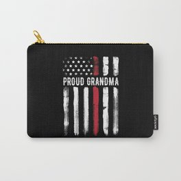 Thin Red Line Proud Grandma Firefighter Carry-All Pouch
