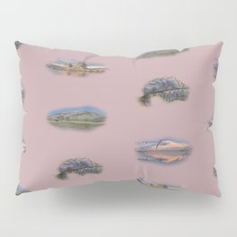Highland Landmarks in pink Pillow Sham