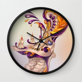 Masquerade - tarot reader Wall Clock