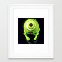 mike wrobel Framed Art Prints featuring Mike by Alex Gaviño