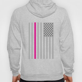 American Flag Pink Ribbon Breast Cancer Awareness Hoody