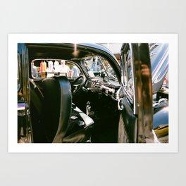 Getaway car Art Print