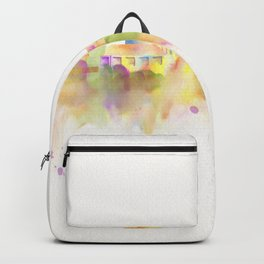 Colorful Stanford California Skyline - University Backpack