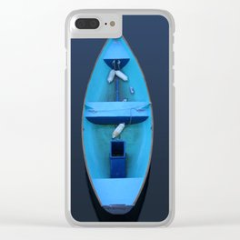 Blue rowboat Clear iPhone Case
