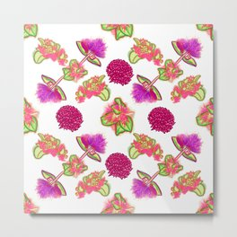 Pretty Pink and Purple Australian Native Flowers Metal Print
