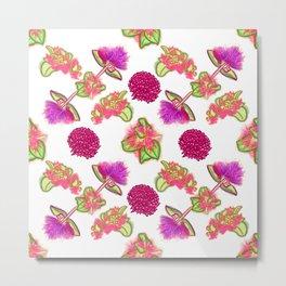 Pretty Pink and Purple Australian Native Flowers Metal Print