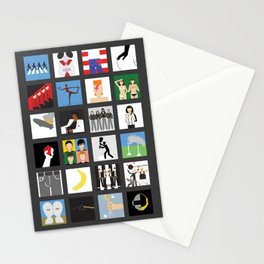 Music album collection Stationery Cards