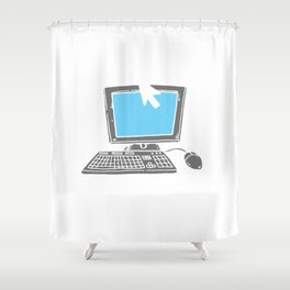 Cybersecurity Think Before You Click IT Specialist Shower Curtain