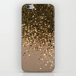 Sparkling Gold Brown Glitter Glam #1 (Faux Glitter) #shiny #decor #art #society6 iPhone Skin