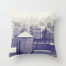foggy memories of nyc... Throw Pillow