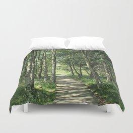 walk in the bog Duvet Cover