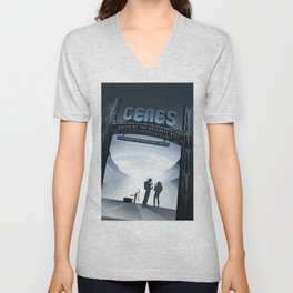 CERES Last Chance for Water until Jupiter; JPL Visions of the Future Space Travel Poster Unisex V-Neck