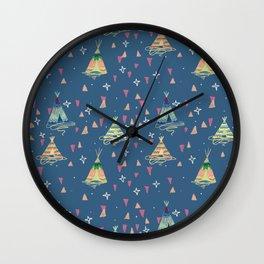 teepees Wall Clock