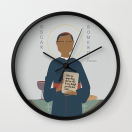 Oscar Romero of El Salvador Wall Clock