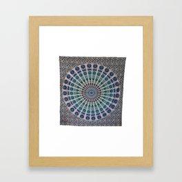 Queen Hippie Mandala Tapestries Wall Hanging Framed Art Print