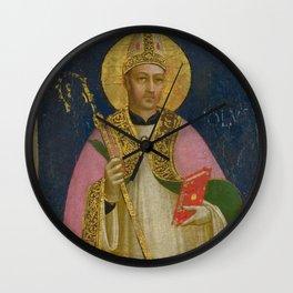 "Fra Angelico (Guido di Pietro) ""Saint Romulus"" Wall Clock"