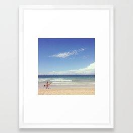 I wish I was here Framed Art Print