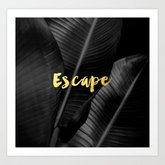 Escape - gold Art Print