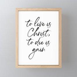 Christ Quote Framed Mini Art Print