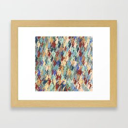 Windy Retro Orchard   Framed Art Print